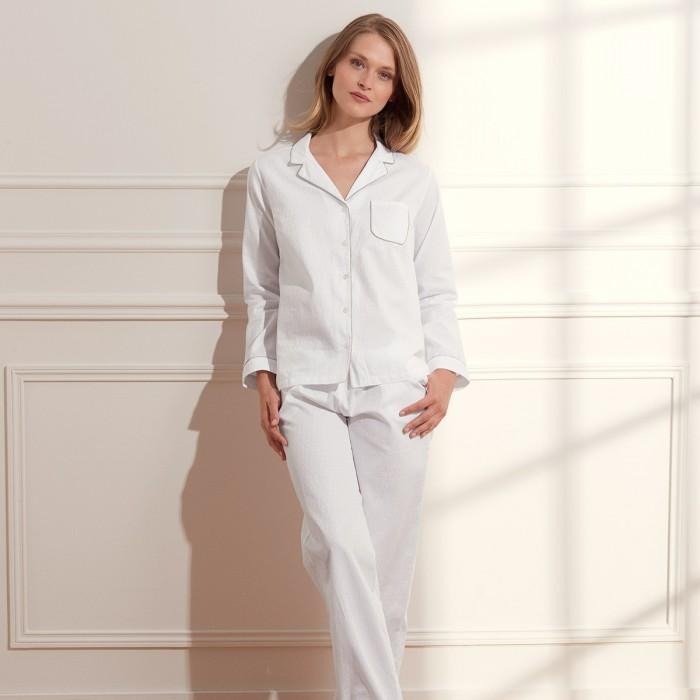 Pyjama Initial Blanc